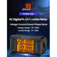 Ватметр PeaceFair PZEM-028 (вимірювач напруги, струму, потужності) AC 40-400V / 100A