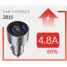 Автомобільна зарядка 2 x USB 5V 4.8A (Newmine SX001)