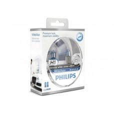 Лампа галогенная Philips H1 WhiteVision +60% (12258WHVSM)