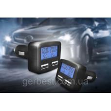 USB Авто-Зарядка в прикуриватель 4in1 2 X USB 5V 3.1 A