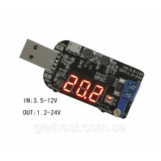 DC-DC понижающий преоброзователь, Модуль USB IN3.5-12V  / OUT1.2 - 24V