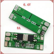 BMS Контролер заряду / розряду, Плата захисту 2S LifePO4 7.2 ... 8.4 V 8A
