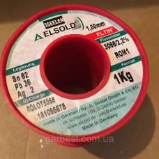 Припой ELSOLD Sn62/Pb36/2Ag 1 мм, 1 кг. Німеччина