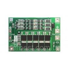 BMS Контроллер (плата защиты) 3S Li-Ion 18650 12.6V 60A с БАЛАНСОМ