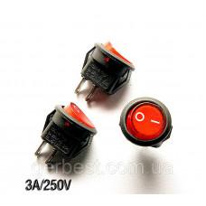 Кнопка, вимикач 3A KCD1-2