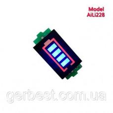 LED индикатор заряда/разряда аккумуляторов li-ion / Li-pol 1S 4.2V