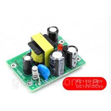 Импульсный Блок питания, AC-DC двухканальный преобразователь 220-12V/5V 0.5А/0.1A 0.5-6W