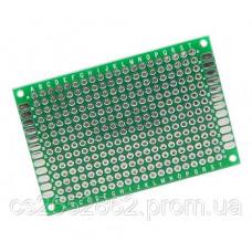 Макетная, монтажная плата PCB  Двухсторонняя 4 x 6 см