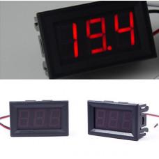 Цифровий вольтметр DC 0-99V (червоний) 3P