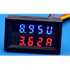 Вольтметр з Амперметром 0.01-100В / 0.01-20А (Шунт вбудований в прилад)