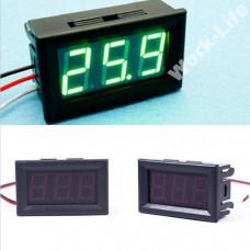 Цифровий вольтметр DC 0-30V (Зелений) 3P