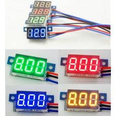 Вольтметр цифровий DC 0-99.9V (3-30V) Червоний, Зелений
