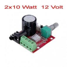 Аудіо Підсилювач стерео на базі PAM8610 Класу D 2х10Вт DC-12В