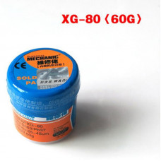 Паяльная паста MECHANIC XG-80 BGA 60g. (Sn-63%, Pb-37%) ORIGINAL