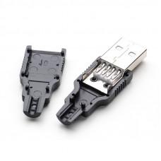 USB Штекер, разъем папа в разборном корпусе
