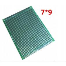 Макетна, монтажна плата двостороння  PCB 7 x 9 см