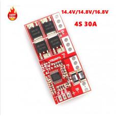 BMS Контролер заряда/разряда, плата защиты 4S li-ion 16.8V 30А