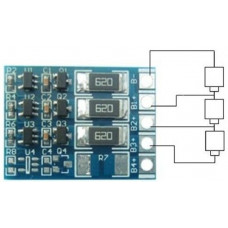 Плата балансировки аккумуляторов 3S Li-Ion 12.6V / 60 mA