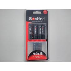 Акумулятор LiFePO4 Soshine 14500 (AA) 3.2V 700mAh