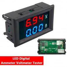 Вольтметр / Амперметр 0.01-33V / 10А (Шунт вбудований в прилад)