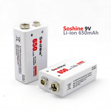 Акумулятор Li-Ion Крона 9V (6F22) Soshine 8.4V 650mAh
