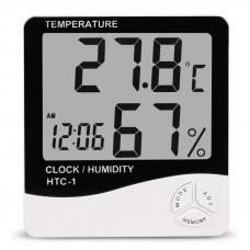 HTC-1 Гигрометр вимір температури і вологості (Термометр, годинник, будильник) NEW!