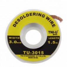 Обшивка для зняття припою TNI-U, TU-1515,2015,2515,3015 (1.5,2.0,2.5,3.0 mm)
