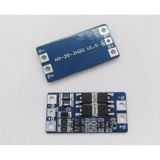 BMS контролер заряду / розряду, плата захисту 2S Li-ion 7.4 ... 8.4V 10A З Балансом