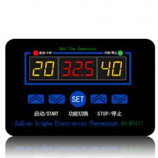 XH-W1411 Терморегулятор,термостат, реле -55 ... +120  (DC 12V / AC 220V)