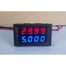 Вольтметр / Амперметр 0.01-100V 10A 4-знаки