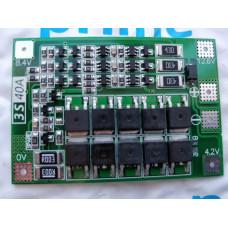 BMS Контроллер (плата защиты) 3S Li-Ion 18650 12.6V 40A с БАЛАНСОМ