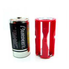 Переходник с аккумулятора (батарейки) AAA на С (R14,343)