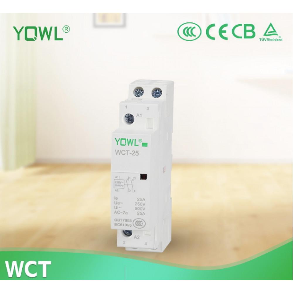 Контактор, пускатель 220V 25A, 1P YQWL (WCT-25)