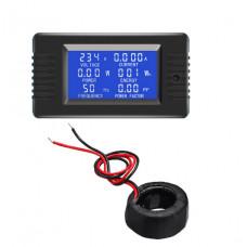 Ваттметр PeaceFair PZEM-022 (Измеритель,Напряжения,Тока,Частоты) AC 80-260V / 100A