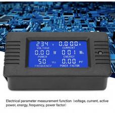 Ватметр PeaceFair PZEM-020 (Вимірювач, Напруження, Тока, Частоти) AC 80-260V / 10A