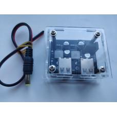 DC-DC понижающий преобразователь,Авто-Зарядка 9-32V /4 x USB 5V 7A