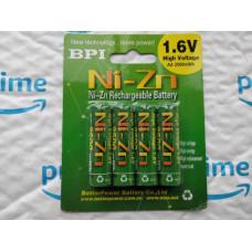 Акумулятор BPI 1.6V Ni-Zn АА 2500 mWh / Зарядка USB