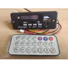 MP3 плеер,модулятор, модуль-декодер с пультом (USB,SD,Fm) 12V
