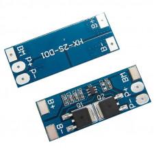 BMS контролер заряду / розряду, плата захисту 2S li-Ion 8.4V 8A